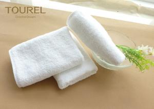 China Soft Comfortable Cotton Hotel Face Anti Bacteria Plain Standard Textile Towels on sale