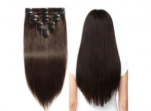 China 100% Virgin Clip In Hair Extensions Human Hair Weave Straight Hair Bundles No Shedding on sale