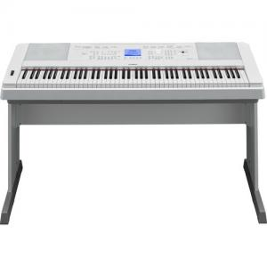 China 192-Note Polyphony and 205 Styles Yamaha DGX-660 88-Key Digital Piano Kit with Bench, Pedal & Headphones (White) on sale
