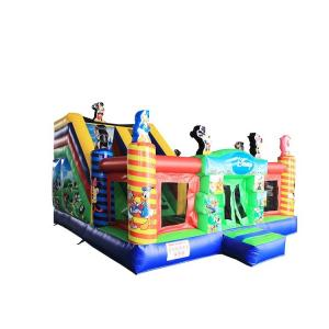 China Cartoon Mickey Mouse Jumping Castle Neat Stitching For Enough Air Pressure on sale