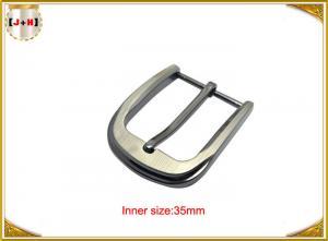 Quality 35MM Pearl Nickel Brushed Custom Metal Die Casting Belt Buckle For Men's Belt for sale