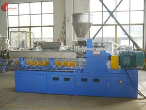 China PLC Co - rotating Plastic Extruder Machine Alloy Twin Screw of modular on sale