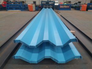 China Aluzinc Galvalume Plastic Roofing Sheet For Greenhouse Width 600mm - 1250mm on sale