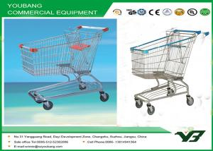 China Four Castor Zinc Plated Supermarket Shopping Trolley Carts American Style on sale