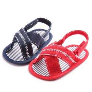 China Quick shipping Casual Canvas baby barefoot slipper infant Walking shoes toddler sandals on sale