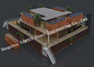 China Customised Modular Prefab Container House For Shopping Center Or Coffee Bar supplier