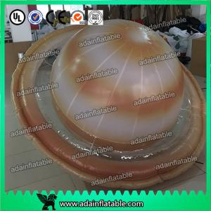 China Customized 2m Inflatable Planet Decoration Lighting Inflatable Saturn on sale