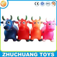 phthalate free pvc music color painting bull cow riding toys for kids