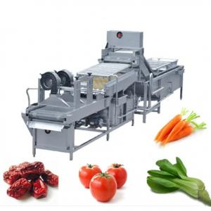 China 10.75kw 300kg/h Vegetables Washing Drying Machine on sale