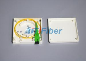 China FTTH Network Fiber Optic Terminal Box with SC APC Fiber Pigtail on sale