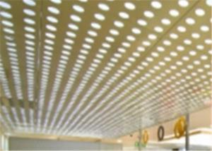 China Security Ceilings MS Perforated Metal Mesh Sheet Back Light With PVC Coating on sale