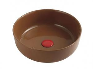 China India cheap price Brown red yellow red orange black white color slim thin wash art basin bowl on sale