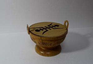 China Decorative Artistic Wood Crafts 245 x 190mm Bamboo Antique Chinese Censer on sale