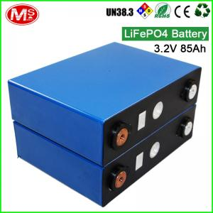 China Solar Deep Cycle Battery Cells 3.2V 85Ah , Prismatic Lithium Ion Battery 2000 Times on sale