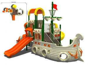 Exceptional ... Quality Childrens Anti UV Pirate Ship Playground Equipment For Garden  For Sale