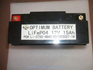 China batteries de phosphate de fer de lithium de 12V 15AH pour le chariot à golf électrique on sale