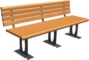 China Commercial Outdoor Site Amenities For Public Park , Custom Park Benches Various Type on sale