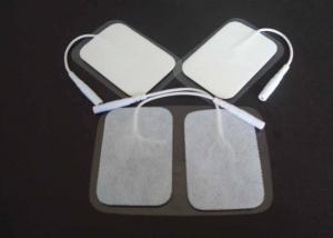China Protections réutilisables d'électrode de place blanche, protections argentées d'électrode de pâte de 40*80MM, protection d'électrode avec le gel du Japon on sale