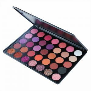 China Mineral Cosmetic Make Up Private Label 35 color Eyeshadow Palette Eye Shadow Makeup Palette on sale