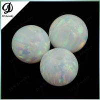Round shape OP17 white color opal gems