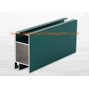 China Powder Coating Aluminium Window Profiles Section For Commercial / Apartment Building supplier