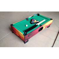 Attractive Kids Play Mini Game Table Color Graphics Design Wood Pool Table
