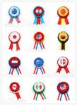 Satin Material Custom Award Ribbons Heat Transfer Printing CE Certification
