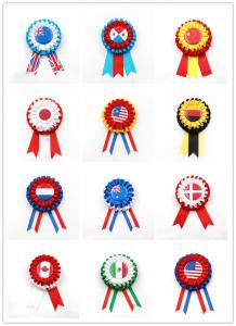 China Satin Material Custom Award Ribbons Heat Transfer Printing CE Certification on sale