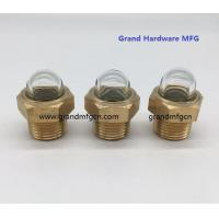 male NPT pipe threads 1/2 inch dome oil level glass sights with borosilicate glass for truck radiators
