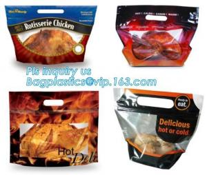 China Hot roast chicken bag/hot roast plastic packaging bag for duck,chicken,fish, Fried Chicken Packaging Clear Microwaveable on sale