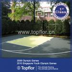 Outdoor flooring for basketball game