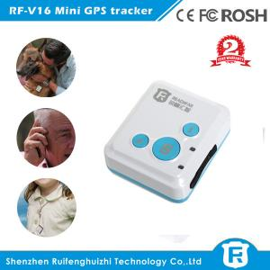 China Sos panic button small personal gps tracker mini for kids baby old people rf-v16 on sale