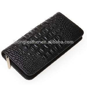 China 2016 latest fashion unique real CROCO Leather ladies purse lady clutch on sale