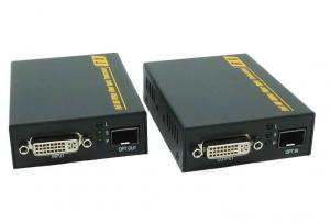 China Black Color DVI Fiber Extender With Mini USB Over Single Mode Fiber Cable on sale