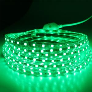 China Waterproof IP67 220V 5050 SMD led strip 60leds/m Flexible Strip Light with Power plug white color Luz de tira flexible on sale