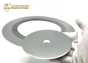 China Custom Size Carbide Disc Cutter For Cutting Cardboard / Paper / Tobacco on sale