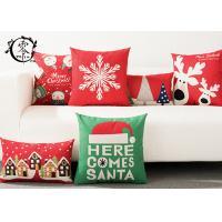 Merry Christmas Decorative Cushions Pillows Throw Cushion Case Home Decor Cotton Linen for Sofa