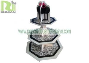China Paper Material POP Cardboard Displays , Disposable Style 3 tier cupcake stand on sale
