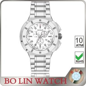 China Date Showed All Stainless Steel Sports Watch For Business Logo Available on sale