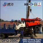 China hydraulic trucked mounted portable DFQ-200C model water well drilling rigs for sale wholesale