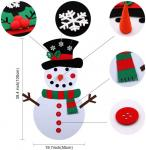 Felt Christmas Snowman Ornaments For Wall Or Window , Christmas Party Crafts for Kids DIY Easily