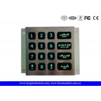 Custom Layout Illuminated Keypad With Green Backlit And Matrix 4x4