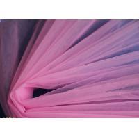 China pink color mesh cloth,100% chinlon mesh fabric for wedding dress etc.. on sale