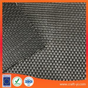 China black color 2X1 weave style outdoor Anti-UV sun chair fabric in Textilene mesh fabric on sale