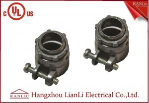 China Flexible Conduit Straight Squeeze Connector Electrical Zinc Die Casting UL Approvals on sale