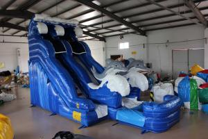 China Dolphin Inflatable Water Slide For kids on sale