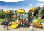 Castle type LLDPE made large structure  out door playground for children