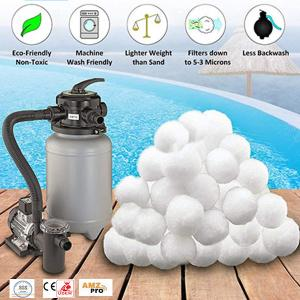 China Polyester Staple Fiber Aquarium Filter Media Balls For Sand Filter wholesale