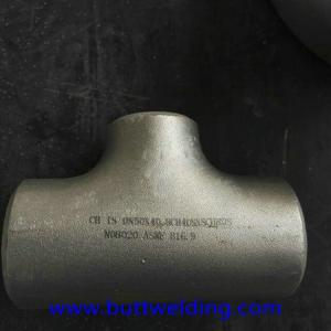 China 12 Inch Sch40 Stainless Steel Tee Super Duplex 32760 Pipe Fittings on sale
