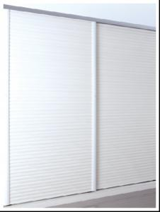 White Wooden Wardrobe Sliding Door For Bedroom Louvered Closet Doors With